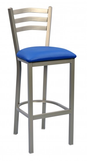 "Commercial Arch Back Metal Stationary 30"" Bar Stool"