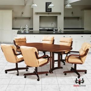 Marvelous Douglas Casual Living Ashley 5 PC Caster Dining Set