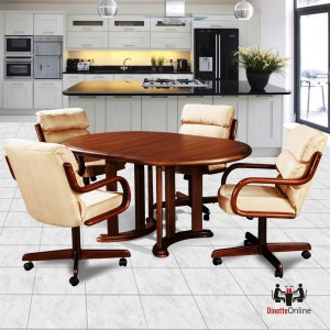 Douglas Casual Living Audrey 5 Piece Caster Dining Set
