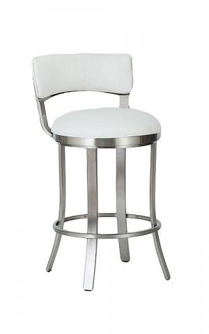 "Wesley Allen Bali Brushed Stainless Steel 26"" Swivel Bar Stool"