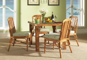 Classic Rattan Bayview 5PC Dinette Set