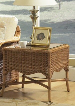 Classic Rattan Bodega Bay End Table