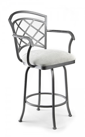 """Wesley Allen Boston 26"""" Swivel Bar Stool with Arms"""