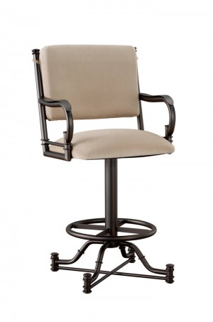 "Tempo Like Bullseye 26"" Burnet Swivel Bar Stool with Arms by Callee"