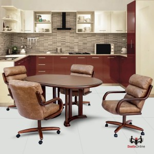 Chromcraft C137-936 and T717-85 Laminate Table Dinette Set