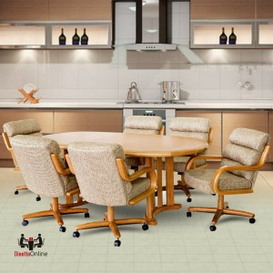 Chromcraft C137-936 and T817-77 Table 7PC Dinette Set