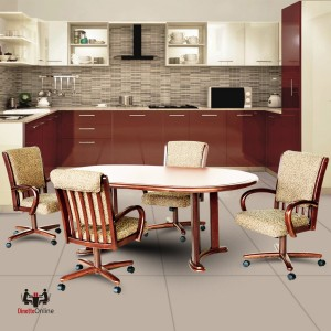 Chromcraft C177-946 and T817-85 Table 5PC Dinette Set