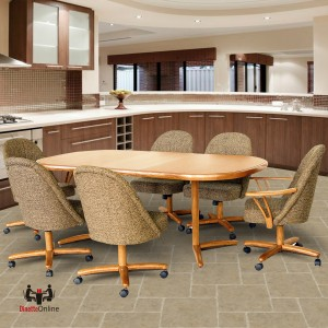 Chromcraft C127/C128 and T824-466 7 Piece Laminate Dining Set