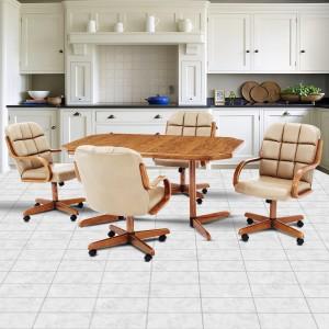 Douglas Furniture Natalie Swivel Rocker Roller Chair Dinette Set