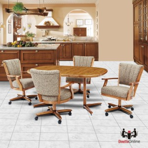 Chromcraft C178-936 and T324-456 Table 5pc Dinette Set
