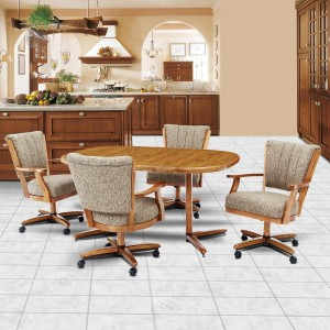 Chromcraft C178-946 and T324-466 Table 5pc Dinette Set