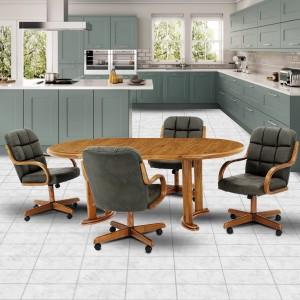 Douglas Furniture Meghan Swivel Rocker Roller Dinette Set