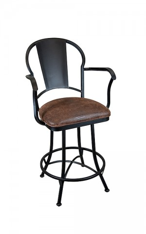 "Wesley Allen Cleveland 26"" Swivel Bar Stool with Arms"