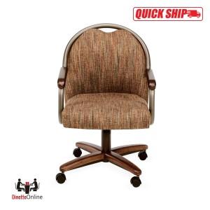 Chromcraft Quick Ship C188-935 Swivel Tilt Roller Chairs