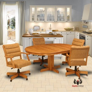 CR Joseph Swivel 3006GC Tilt Casual Dining Set with Wheels