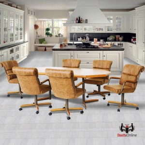 Douglas Casual Living Doris 7 PC Swivel Caster Dining Set
