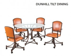 Callee Dunhill Swivel Tilt Glass Top Dining Set