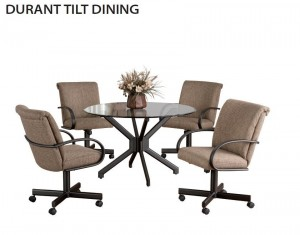 Callee Durant Swivel Tilt Glass Top Dining Set