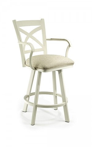 "Wesley Allen Edmonton 26"" Swivel Bar Stool with Arms"
