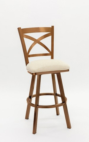 "Wesley Allen Edmonton 26"" Copper Stainless Swivel Bar Stool"