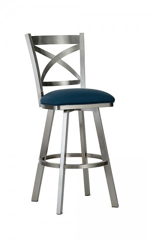 "Wesley Allen Edmonton 30"" Stainless Swivel Bar Stool"