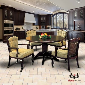 I.M. David 6256 Chair and 4127 Table Caster Dining Set