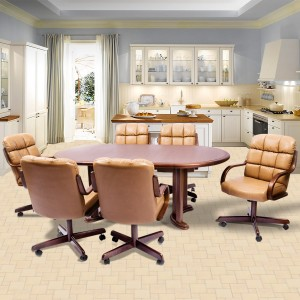 Douglas Casual Living Joan Swivel Tilt Caster 5 PC Laminate Dining Set