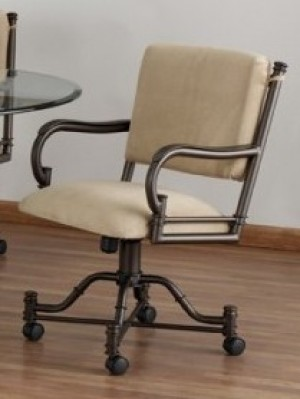 Tempo Like Bullseye Swivel Tilt Caster Burnet Arm Chair by Callee