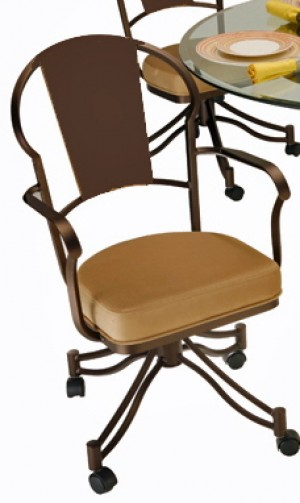 Tempo Like Chaucer Swivel Tilt Caster Charleston Arm Chair by Callee