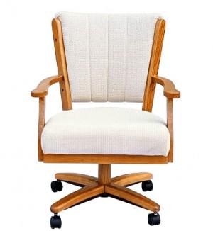 Chromcraft C178-936 swivel tilt caster arm chair