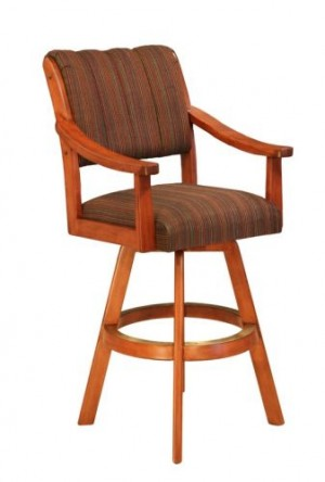 CR Joseph 5004 Swivel Wood Bar Stool 30