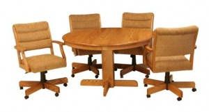 "CR Joseph Round Dinette Extension Table 42"""