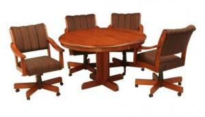 "CR Joseph Round Extension Dinette Table 48"""