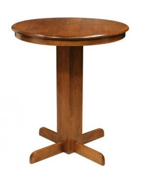 "CR Joseph Round Wood Bar Height  36""  Pub Table"