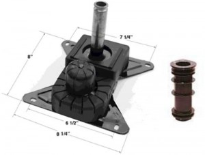 Chromcraft Swivel Tilt Mechanism with Plastic Insert Set of 4 (only fits Chromcraft)