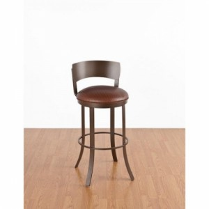 Tempo Like Birkin Metal Back Bailey Swivel 26 Bar Stool