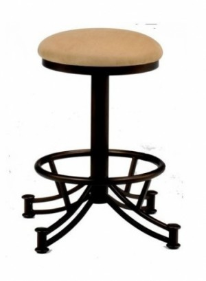Tempo Like Sonora 34 Seattle Swivel Backless Bar Stool by Callee