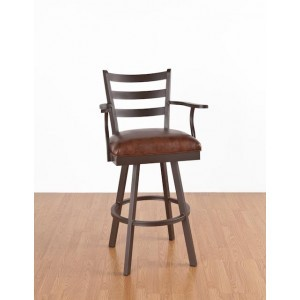 """Callee Claremont 34"""" Swivel Bar Stool with Arms"""
