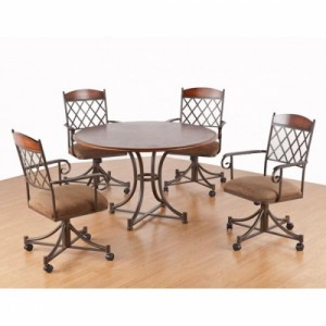 Tempo Like Madrid Swivel Tilt Caster Madison Dinette Set by Callee