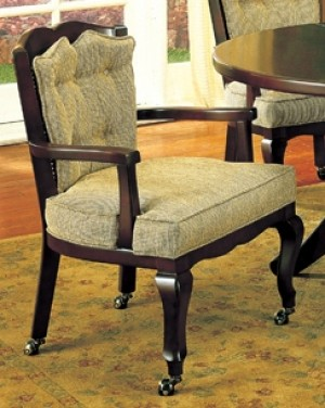 I.M. David 6256 Cane Back Caster Arm Chair