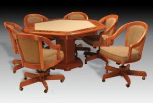 I.M. David 3695 Table w 5409GC Chairs 5 PC Poker Set