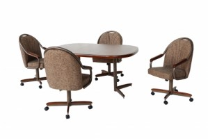 Douglas Casual Living Hunter Swivel Tilt Caster Dinette Set