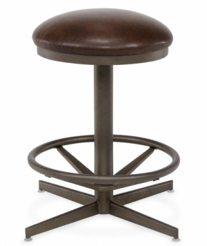 "Chromcraft CM10 Swivel 26"" Backless Bar Stool"