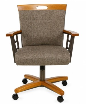 Chromcraft CM14-935 Swivel Tilt Roller Dining Chair