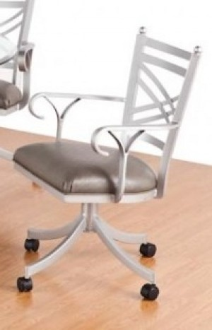 Callee Rochester Swivel Tilt Caster Arm Dining Chair