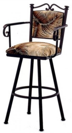 """Callee Sonoma 26"""" Swivel Bar Stool with Arms"""