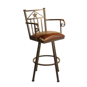 "Tempo Callee Lonestar 26"" Swivel Arms Bar Stool"