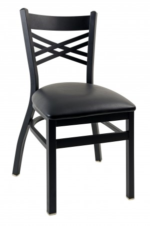 Commercial Cross Back Nesting Metal Dining Chair