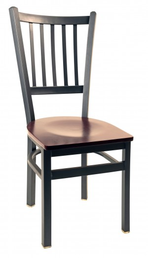Commercial Jailhouse Tall Back Metal Dining Chair