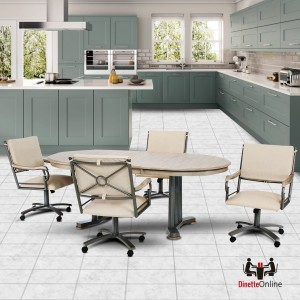 Chromcraft Metalcraft G&D Oval Solid Wood Dining Set